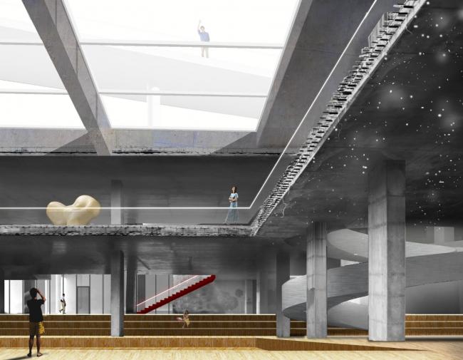 Павильон парка Победы. Дипломный проект Екатерины Нуждиной. Студия архитектурного бюро «Меганом». МАРХИ, 2016