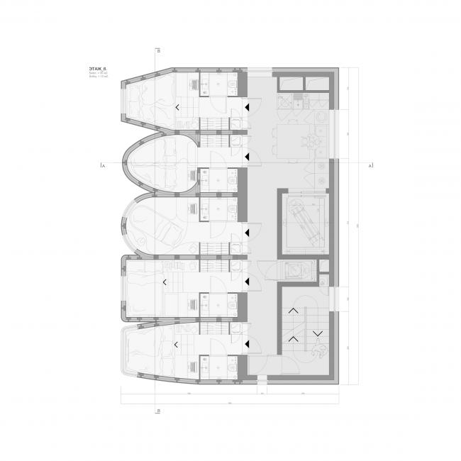 Кондомини(м)ум. Дипломный проект Стаса Козина. Студия архитектурного бюро «Меганом». План этажа. МАРХИ, 2016