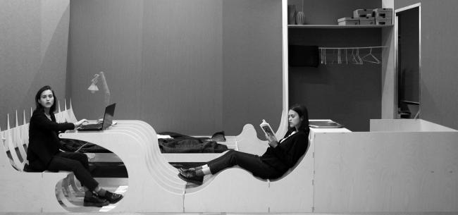 Кондомини(м)ум. Дипломный проект Стаса Козина. Студия архитектурного бюро «Меганом». Интерьеры. МАРХИ, 2016