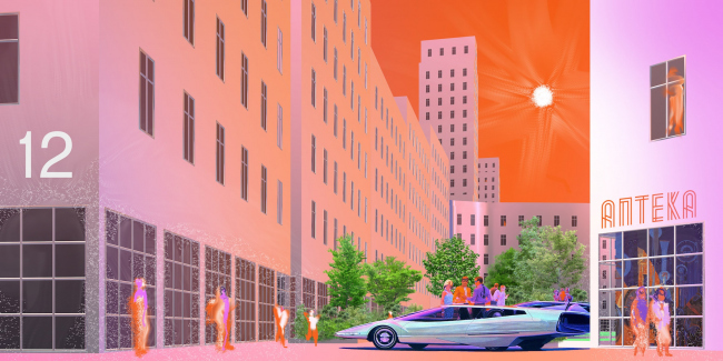 Генератор города. Дипломный проект Рустама Насриддинова-Бицона. Студия архитектурного бюро «Меганом». МАРХИ, 2016