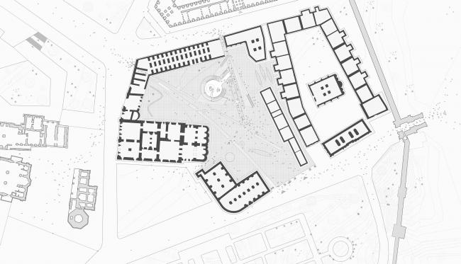 Павильон в Кремле. Дипломный проект Азамата Нырова. Студия архитектурного бюро «Меганом». План площади. МАРХИ, 2016