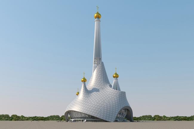 Проект-концепция храма Святой Екатерины в Екатеринбурге © «Птарх и Партнеры»