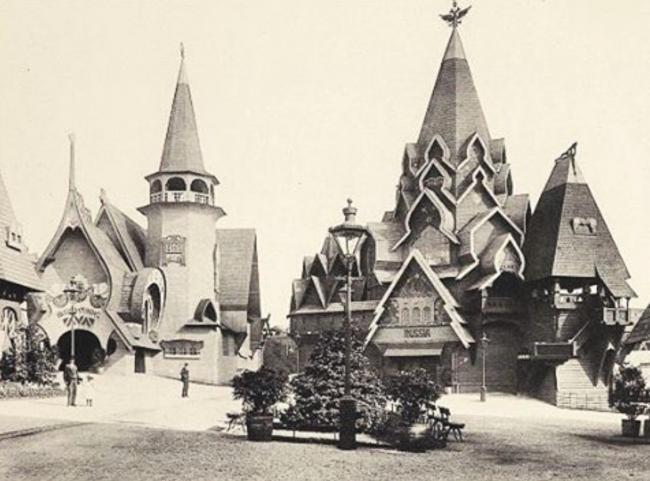 Русский павильон на международной выставке в Глазго, 1901 год, Ф.О. Шехтель © Музей архитектуры им. Щусева