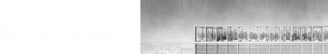 Дипломная работа Андрея Фомичева «Московский некрополь». Руководители: Евгений Асс, Кирилл Асс. Фрагмент кровли © МАРШ, 2016
