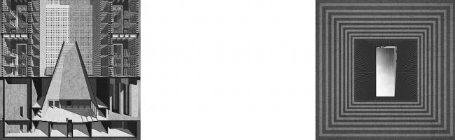 Дипломная работа Андрея Фомичева «Московский некрополь». Руководители: Евгений Асс, Кирилл Асс. Разрез © МАРШ, 2016