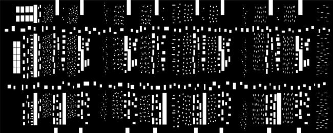 Дипломная работа Дарьи Зайцевой «Городская тюрьма». Руководители: Евгений Асс, Кирилл Асс. Развертка фасада © МАРШ, 2016