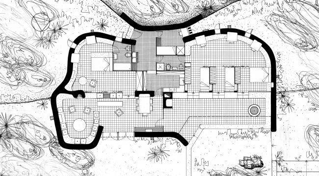 Летний дом в Ибице, Испания, 1960. План © Ricardo Bofill Taller Arquitectura