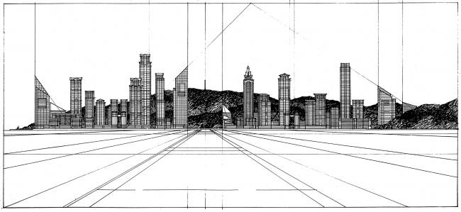 Новый город Нанша в окрестностях Гуанчжоу. 1993 © Ricardo Bofill Taller Arquitectura