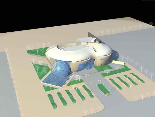 Центральный офис ЗАО «Балтийская жемчужина». Модель © Архитектурная мастерская Цыцина