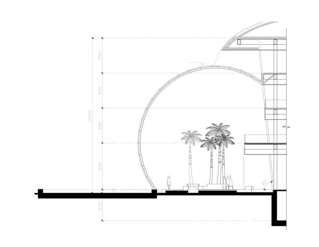 Центральный офис ЗАО «Балтийская жемчужина». Разрез © Архитектурная мастерская Цыцина