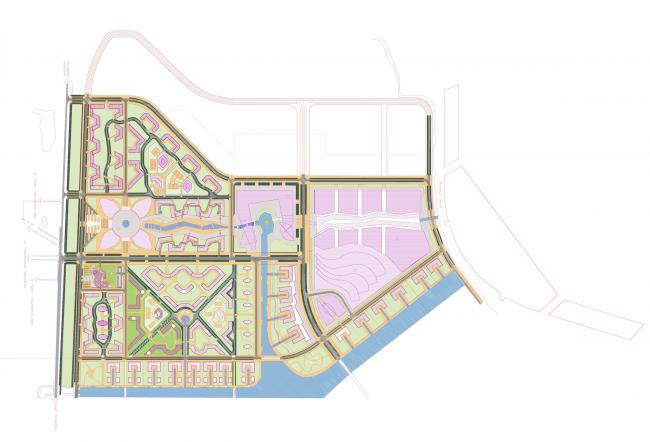 Центральный офис ЗАО «Балтийская жемчужина». Ситуационный план © Архитектурная мастерская Цыцина