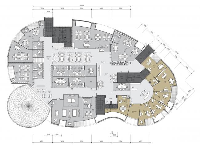 Центральный офис ЗАО «Балтийская жемчужина». Генеральный план © Архитектурная мастерская Цыцина