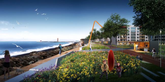 Концепция развития Имеретинской набережной. Проект, 2016 © Агентство стратегического развития «Центр» & Turenscape
