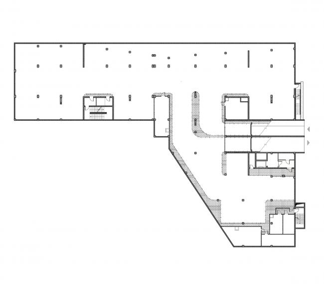 Бизнес-центр «Kiroff». План нулевого этажа © Белзарубежстрой