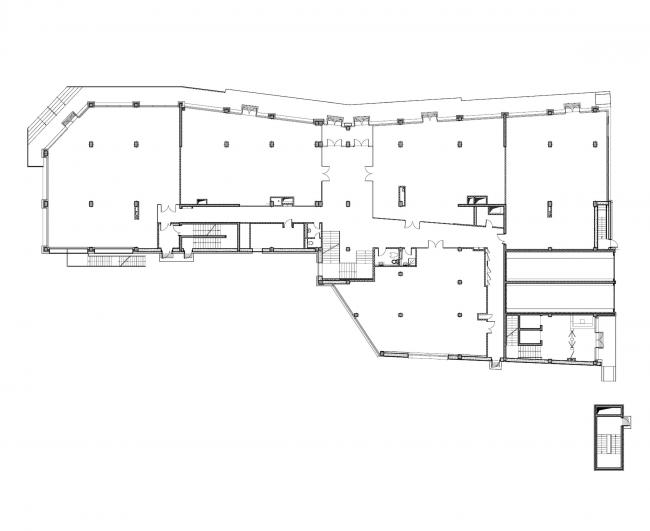 Бизнес-центр «Kiroff». План 1 этажа © Белзарубежстрой