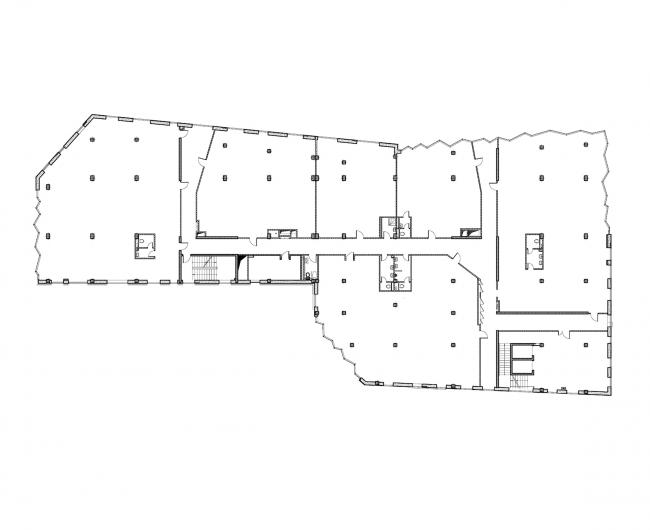 Бизнес-центр «Kiroff». План 4 этажа © Белзарубежстрой