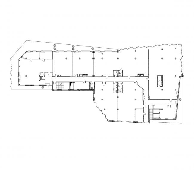 Бизнес-центр «Kiroff». План 6 этажа © Белзарубежстрой