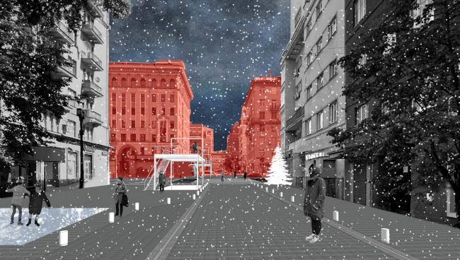 Концепция благоустройства улиц Тверская и 1-я Тверская-Ямская © BuroMoscow