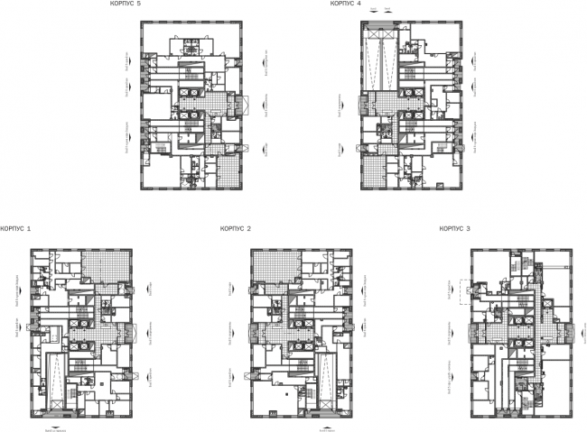 """Vodny"" housing project. Plan of the 1st floor © SPEECH"