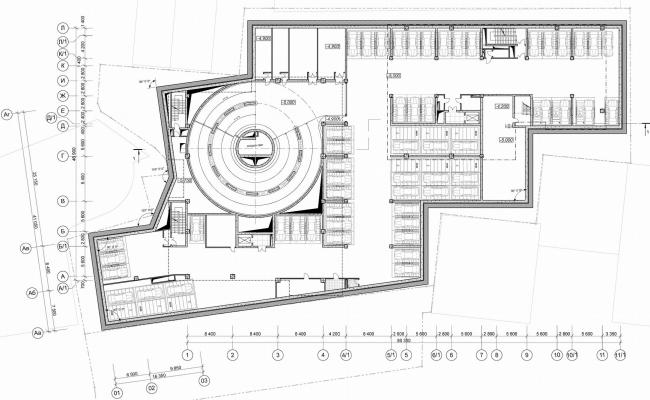 """Danilov Plaza"" multifunctional project. Plan of the underground floor © SPEECH"