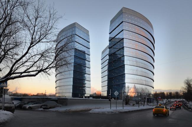 "Multifunctional complex ""Lotus"". Construction 2011-2014. Photograph © Aleksey Naroditskiy"