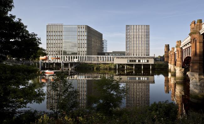Кампус Риверсайд городского колледжа Глазго. Michael Laird Architects и Reiach and Hall Architects © Keith Hunter