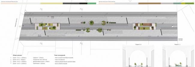 Концепция благоустройства Большой Морской улицы. Авторы: Bright Ideas Zone