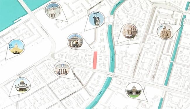 Карта достопримечательностей из проекта Никиты Саркисяна