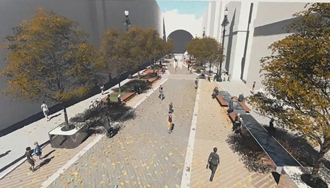 Концепция благоустройства Большой Морской улицы. Автор: Никита Саркисян