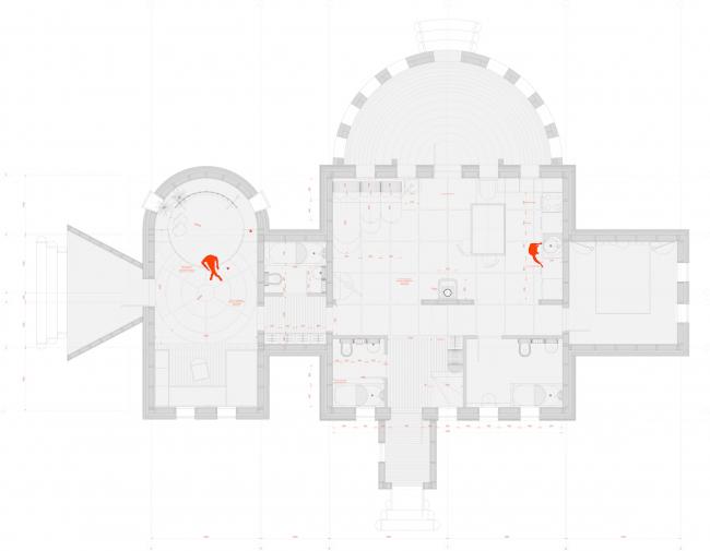 Строительная компания «Сказка». Дипломный проект Ирины Михайловой. Студия архитектурного бюро «Меганом». План. МАРХИ, 2016