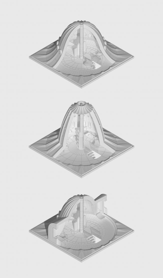 Строительная компания «Сказка». Дипломный проект Ирины Михайловой. Студия архитектурного бюро «Меганом». Крыши. МАРХИ, 2016