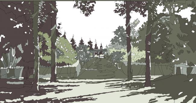 Дипломная работа Анастасии Ципс (Кудрявцевой). Ландшафтный парк в Приморском районе. Санкт-Петербург, 2016