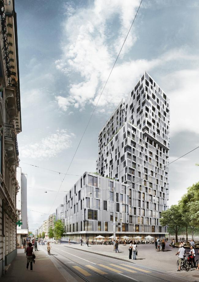 Высотный жилой комплекс «Мерет Оппенгейм» © SBB