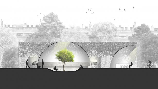 Проект «Санктум». Авторы: Ханкан Цзинь и Динулла Баю Ибрахим © Международный конкурс «Павильон мира». Париж, 2016