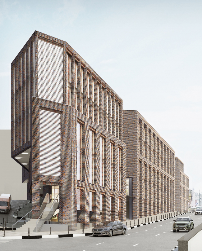 Multifunctional complex on the Zemlyanoy Val Street. Project, 2014 © Ginsburg Architects