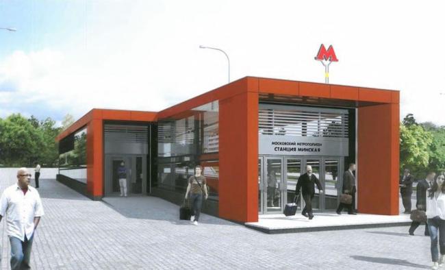 Утверждённый проект дизайна станции «Минская». Изображение предоставлено мэрией Москвы