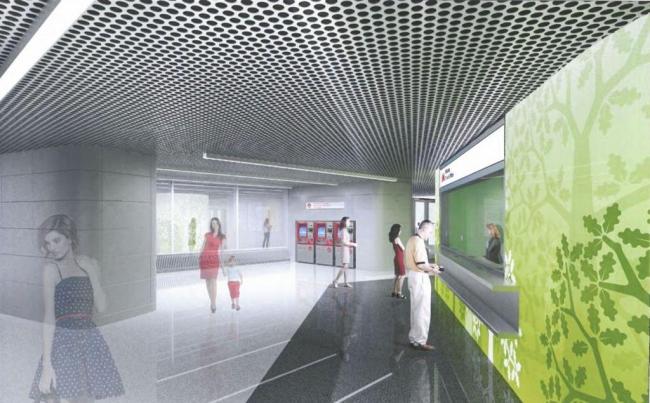 Утверждённый проект дизайна станции «Раменки». Изображение предоставлено мэрией Москвы