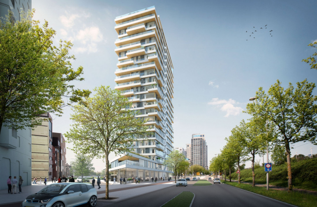 Жилое многоквартирное здание HAUT © Team V Architecture