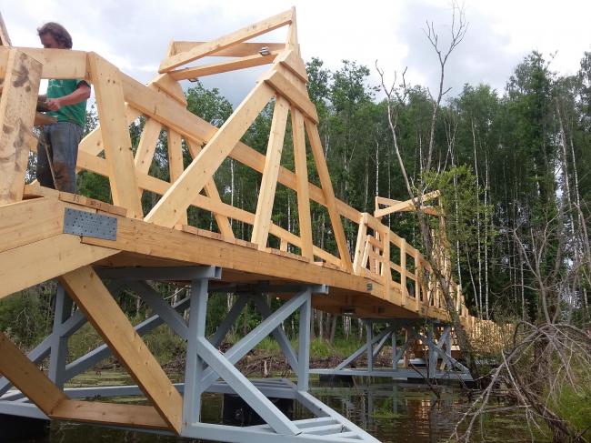 Мост. Wowhaus. Архстояние 2016. Строительство Фотография © Есберген Сабитов