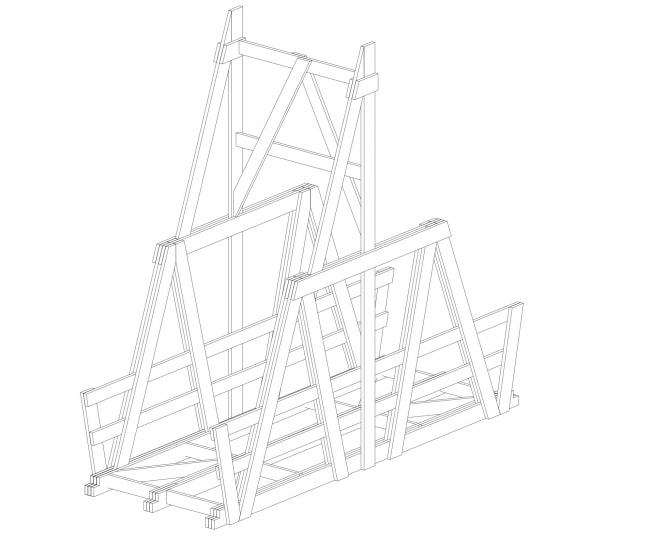 Мост. Wowhaus. Архстояние 2016. Деревянные конструкции © Wowhaus, Есберген Сабитов