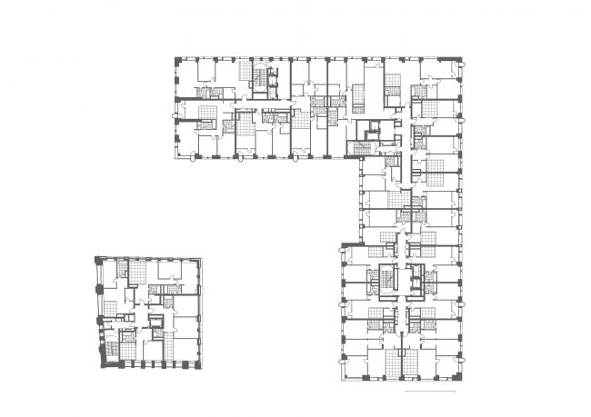 Жилой дом на ул. Новослободская. План 2 этажа © ADM