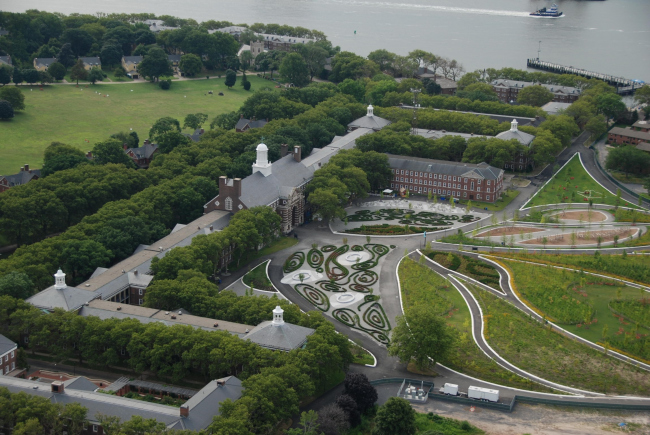 Парк Говернорс-Айленд. 1-я очередь строительства. 2014 © The Trust for Govenors Island