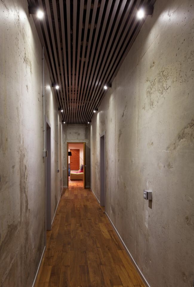 Хэмтон Хаус. Загородный дом. Цокольный этаж, решенный в стиле лофт. Постройка, 2016 © Архитектурное бюро Романа Леонидова