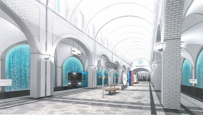 Проект дизайна станции «Селигерская». Изображение предоставлено Москомархитектуры