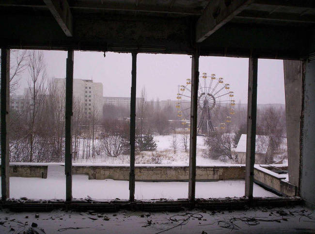 Колесо обозрения в Припяти. Фото: Keith Adams. Фотография находится в общественном достоянии