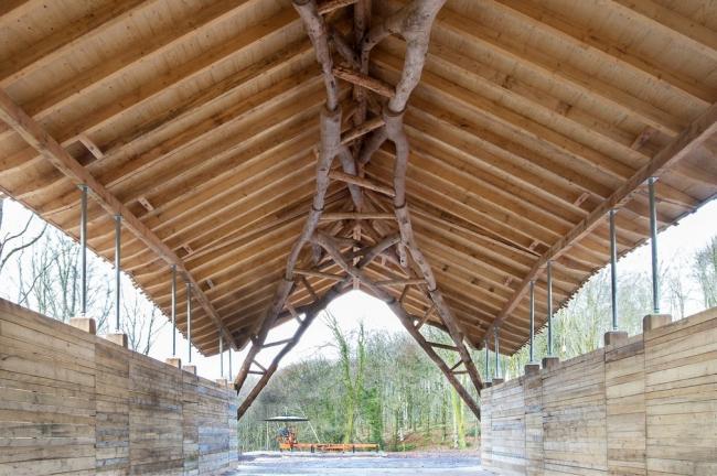 Сарай для древесной щепы, Хук-парк, Дорсет.  Arup © Valerie Bennett