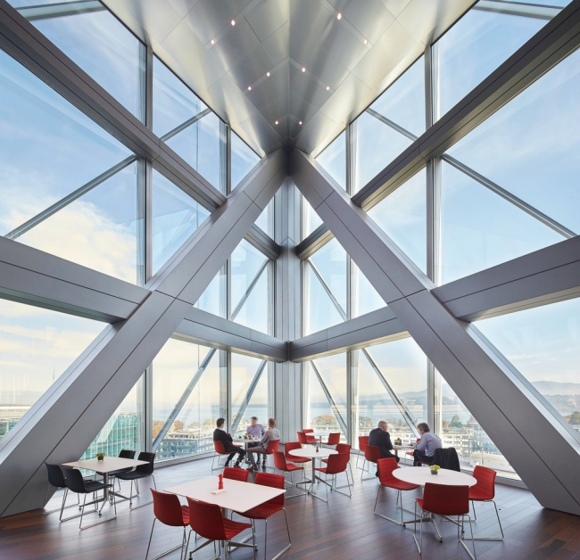Штаб-квартира JTI, Женева.  Skidmore, Owings & Merrill, Inc. © Hufton + Crow