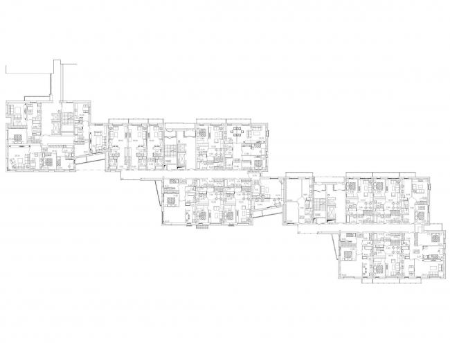 Многоквартирный жилой дом на набережной Варкауса. План © Петрозаводскархпроект