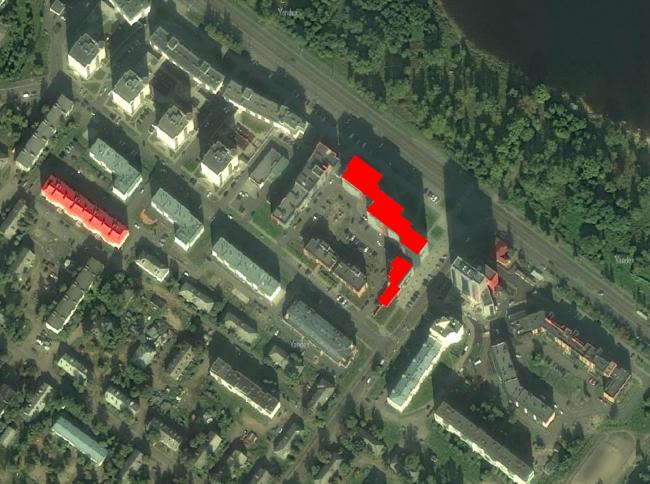 Многоквартирный жилой дом на набережной Варкауса. Ситуационный план © Петрозаводскархпроект