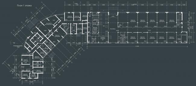 Жилой комплекс «Звёздный». План  1 этажа © Архитектурное Бюро Штурбабиных